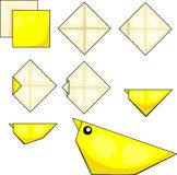 Origami chick Stock Image