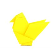 Origami chicken Stock Photography