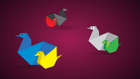Origami chickens Royalty Free Stock Image