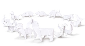 Origami chinese zodiac Royalty Free Stock Photography