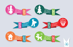 Origami Christmas banners set, vector Stock Image