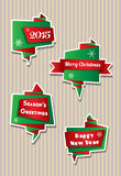 Origami Christmas banners Royalty Free Stock Images