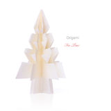 Origami christmas fir tree Stock Images