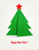 Origami Christmas tree. Royalty Free Stock Photography