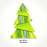 Origami Christmas tree Royalty Free Stock Images