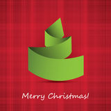Origami Christmas Tree Card Stock Images