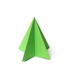 Origami Christmas tree Stock Image