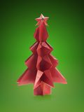 Origami christmas tree Stock Photos
