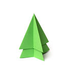 Origami christmas tree. On white background Stock Image