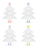Origami christmas trees Stock Images
