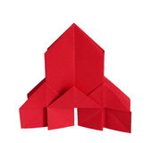 Origami church. On white background Royalty Free Stock Photos