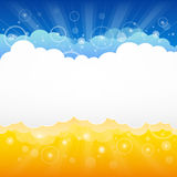 Origami cloud design. Light summer sowing Stock Photo