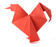Origami cock Royalty Free Stock Image