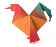 Origami cock Royalty Free Stock Photography
