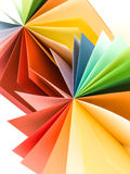Origami colored paper fan Royalty Free Stock Image