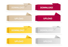 Origami Colored Web Buttons Stock Photography