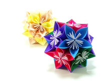 Origami colorful flowers Royalty Free Stock Photo