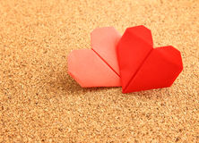 Origami colorful heart Stock Photo