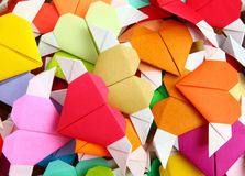 Origami colorful heart. Heap of origami colorful heart Royalty Free Stock Image