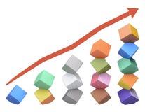 Origami Columbus Towers, concept de evenwichtige groei Stock Foto's