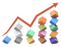 Origami Columbus Towers, concept of uneven growth Stock Photos