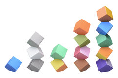 Origami Columbus Towers, varicolored cubes Stock Photography