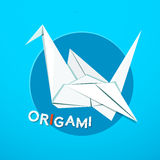 Origami concept design, vector illustration. Origami logo, vector illustration with paper cranes Stock Photos