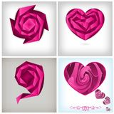 Origami concept, love theme background Royalty Free Stock Photos