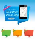 Origami Content askar stock illustrationer