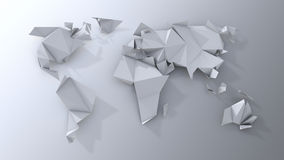 Origami continents scrapbooking. Stock Photos