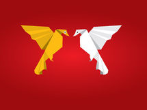 Origami Couple Birds Royalty Free Stock Image