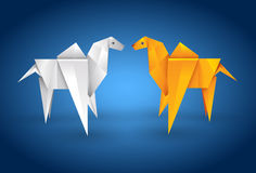 Origami Couple Camel Royalty Free Stock Images