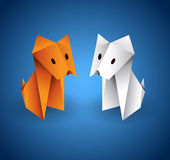 Origami Couple Dog Stock Images