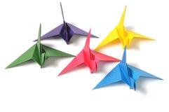 Origami crane. Isolated on white background stock photo