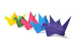 Origami crane. Isolated on white background stock images
