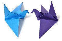 Origami crane. Isolated on white background royalty free stock image