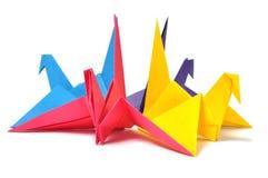 Origami crane. Isolated on white background stock photos
