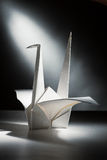 Origami crane 2. Close-up image of origami crane stock images