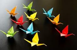 Origami crane birds Royalty Free Stock Image