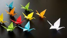 Origami crane birds Royalty Free Stock Photos