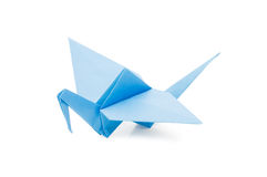 Origami crane isolated over white Stock Photos