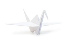 Origami crane isolated over white Stock Image