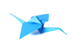 Origami crane isolated over white Stock Images