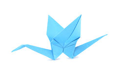 Origami crane isolated over white Royalty Free Stock Image