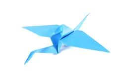 Origami crane isolated over white Stock Photos