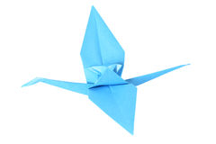 Origami crane isolated over white Stock Photo