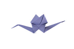 Origami crane isolated over white Royalty Free Stock Photography
