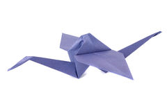 Origami crane isolated over white Royalty Free Stock Images
