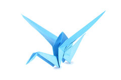 Origami crane isolated over white Royalty Free Stock Photos