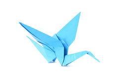 Origami crane isolated over white Stock Photo
